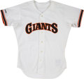 Baseball Collectibles:Uniforms, 1990 Will Clark Game Worn San Francisco Giants Jersey....