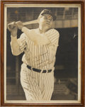 Baseball Collectibles:Photos, 1940's Babe Ruth Signed Large Photograph....