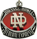 Football Collectibles:Others, 1990 Notre Dame Fighting Irish Orange Bowl Pendant....