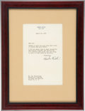 Autographs:Letters, 1947 Babe Ruth Typed Signed Letter....