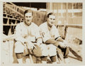 Autographs:Bats, 1932 Waner Brothers Original News Photograph, PSA/DNA Type 1....