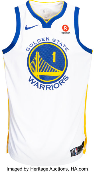 huge discount a85fb c3108 2018 JaVale McGee NBA Finals Worn Golden State Warriors Jersey with NBA  Provenance - Photomatched!...