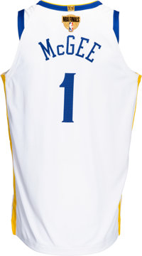 huge discount e4515 87ec4 2018 JaVale McGee NBA Finals Worn Golden State Warriors Jersey with NBA  Provenance - Photomatched!...