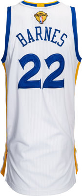 the best attitude 7549b 26f62 2017 Matt Barnes Game Worn Golden State Warriors NBA Finals Jersey - Used  6/1 Game 1 vs. Cavaliers....