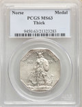 1925 Medal Norse, Thick Planchet, MS63 PCGS. PCGS Population: (277/817). NGC Census: (233/622). MS63. Mintage 31,750...