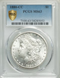 1880-CC $1 MS63 PCGS. PCGS Population: (3821/8681 and 72/492+). NGC Census: (2174/4413 and 49/125+). CDN: $470 Whsle. Bi...