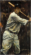 Baseball Collectibles:Others, 2004 Lou Gehrig Giclee by Stephen Holland....