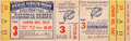 Baseball Collectibles:Tickets, 1951 World Series Game 3 Full Ticket....