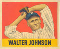 """Baseball Collectibles:Others, 2019 Walter Johnson 1948 Leaf """"Card That Never Was"""" Original Painting by Arthur Miller...."""