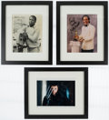 Autographs:Photos, Great Actors Signed & Framed Photograph Lot of 3.... (Total: 3 items)