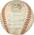 Autographs:Baseballs, 1957 Brooklyn Dodgers Team Signed Baseball....