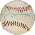 Baseball Collectibles:Balls, 1963 New York Mets Team Signed Baseball from The Casey Stengel Collection. ...