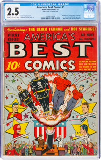 America's Best Comics #1 (Nedor Publications, 1942) CGC GD+ 2.5 Cream to off-white pages