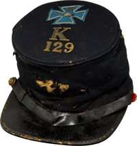 Commercially Produced Forage Cap with V Corps Badge and Unit Insignia