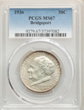 Commemorative Silver, 1936 50C Bridgeport MS67 PCGS. PCGS Population: (103/0). NGC Census: (34/1). CDN: $850 Whsle. Bid for problem-free NGC/PCGS...