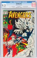 Silver Age (1956-1969):Superhero, The Avengers #61 (Marvel, 1969) CGC NM- 9.2 Off-white to white pages....