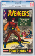 Silver Age (1956-1969):Superhero, The Avengers #21 (Marvel, 1965) CGC NM 9.4 White pages....