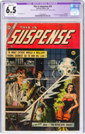 Golden Age (1938-1955):Horror, This Is Suspense #23 (Charlton, 1955) CGC Apparent FN+ 6.5 Slight (C-1) Off-white pages....