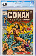Bronze Age (1970-1979):Adventure, Conan the Barbarian #1 (Marvel, 1970) CGC FN 6.0 Off-white to white pages....