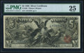 Large Size:Silver Certificates, Fr. 268 $5 1896 Silver Certificate PMG Very Fine 25.. ...
