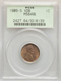 Lincoln Cents, 1909-S 1C VDB MS64 Red and Brown PCGS....