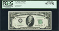 Low Serial 00000010 Fr. 2011-G $10 1950A Federal Reserve Note. PCGS Choice New 63PPQ