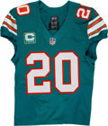 Football Collectibles:Uniforms, 2016 Reshad Jones Game Worn Miami Dolphins Throwback Jersey....