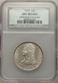 1838 50C -- Improperly Cleaned -- NCS. UNC Details. NGC Census: (6/296). PCGS Population: (8/248). MS60. Mintage 3,546,0...