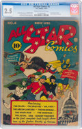 Golden Age (1938-1955):Superhero, All Star Comics #4 (DC, 1941) CGC GD+ 2.5 Cream to off-white pages....