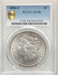 Morgan Dollars, 1884-S $1 AU58 PCGS. PCGS Population: (1378/338 and 44/13+). NGC Census: (1846/447 and 33/4+). CDN: $1,500 Whsle. Bid for p...