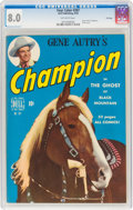 Golden Age (1938-1955):Miscellaneous, Four Color #287 Gene Autry's Champion - File Copy (Dell, 1950) CGC VF 8.0 Off-white pages....