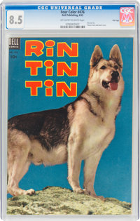 Four Color #476 Rin Tin Tin - File Copy (Dell, 1953) CGC VF+ 8.5 Off-white to white pages