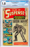 Silver Age (1956-1969):Superhero, Tales of Suspense #39 (Marvel, 1963) CGC GD- 1.8 Cream to off-white pages....