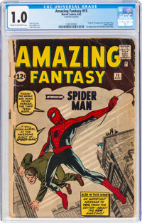 Amazing Fantasy #15 (Marvel, 1962) CGC FR 1.0 Cream to off-white pages