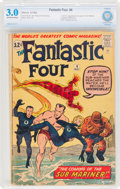 Silver Age (1956-1969):Superhero, Fantastic Four #4 (Marvel, 1962) CBCS GD/VG 3.0 Off-white to white pages....