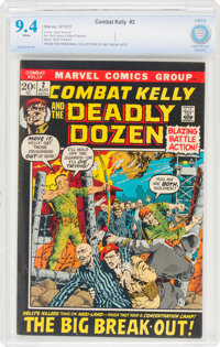 Combat Kelly #2 (Marvel, 1972) CBCS NM 9.4 White pages