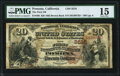 Pomona, CA - $20 1882 Brown Back Fr. 496 The First National Bank Ch. # (P)3518 PMG Choice Fine 15.<