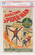Silver Age (1956-1969):Superhero, The Amazing Spider-Man #1 Jack Kirby Verified Signature (Marvel, 1963) CBCS GD 2.0 Off-white to white pages....