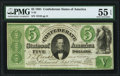 T33 $5 1861 PF-19 Cr. 257b PMG About Uncirculated 55 EPQ