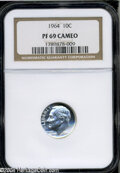 Proof Roosevelt Dimes: , 1964 10C PR 69 Cameo NGC. ...