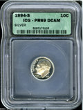 Proof Roosevelt Dimes: , 1994-S 10C Silver PR 69 Deep Cameo ICG. ...