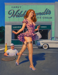 Greg Hildebrandt (American, b. 1939) Candy and Cream, 2018 Acrylic on canvas 45 x 37-1/2 inches (