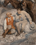 Fine Art - Painting, American, Edmund F. Ward (American, 1892-1990). A Moment of Rest. Oil on canvas. 40 x 33 inches (101.6 x 83.8 cm). Signed lower ri...