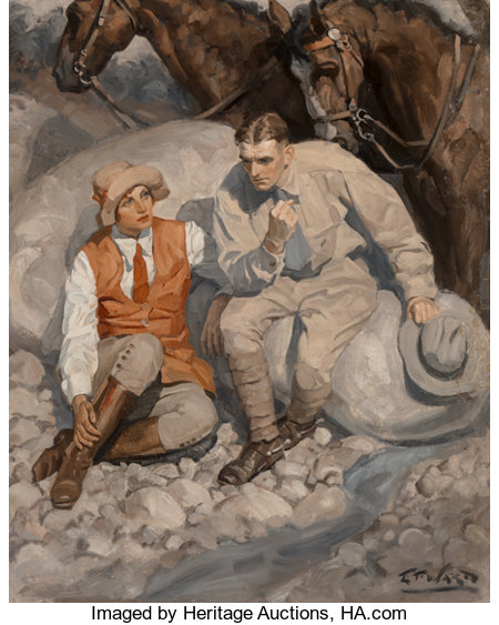 Edmund F. Ward (American, 1892-1990)A Moment of RestOil on canvas40 x 33 inches (101.6 x 83.8 cm)Signed lower ri...
