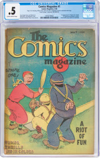 The Comics Magazine #1 (Comics Magazine, 1936) CGC PR 0.5 Slightly brittle pages