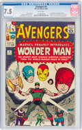 Silver Age (1956-1969):Superhero, The Avengers #9 (Marvel, 1964) CGC VF- 7.5 White pages....