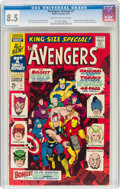 Silver Age (1956-1969):Superhero, The Avengers Annual #1 (Marvel, 1967) CGC VF+ 8.5 Cream to off-white pages....