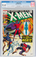 Silver Age (1956-1969):Superhero, X-Men #63 (Marvel, 1969) CGC NM 9.4 Off-white to white pages....