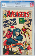 Silver Age (1956-1969):Superhero, The Avengers #4 (Marvel, 1964) CGC GD 2.0 Off-white pages....