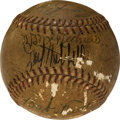 Autographs:Baseballs, Circa 1938 Babe Ruth Multi-Signed Baseball with Other Hall of Famers....